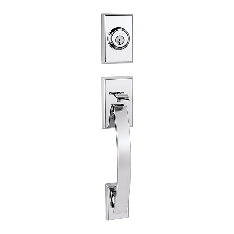 Shop Kwikset Tavaris Adjustable Polished Chrome Entry Door Exterior Handle At
