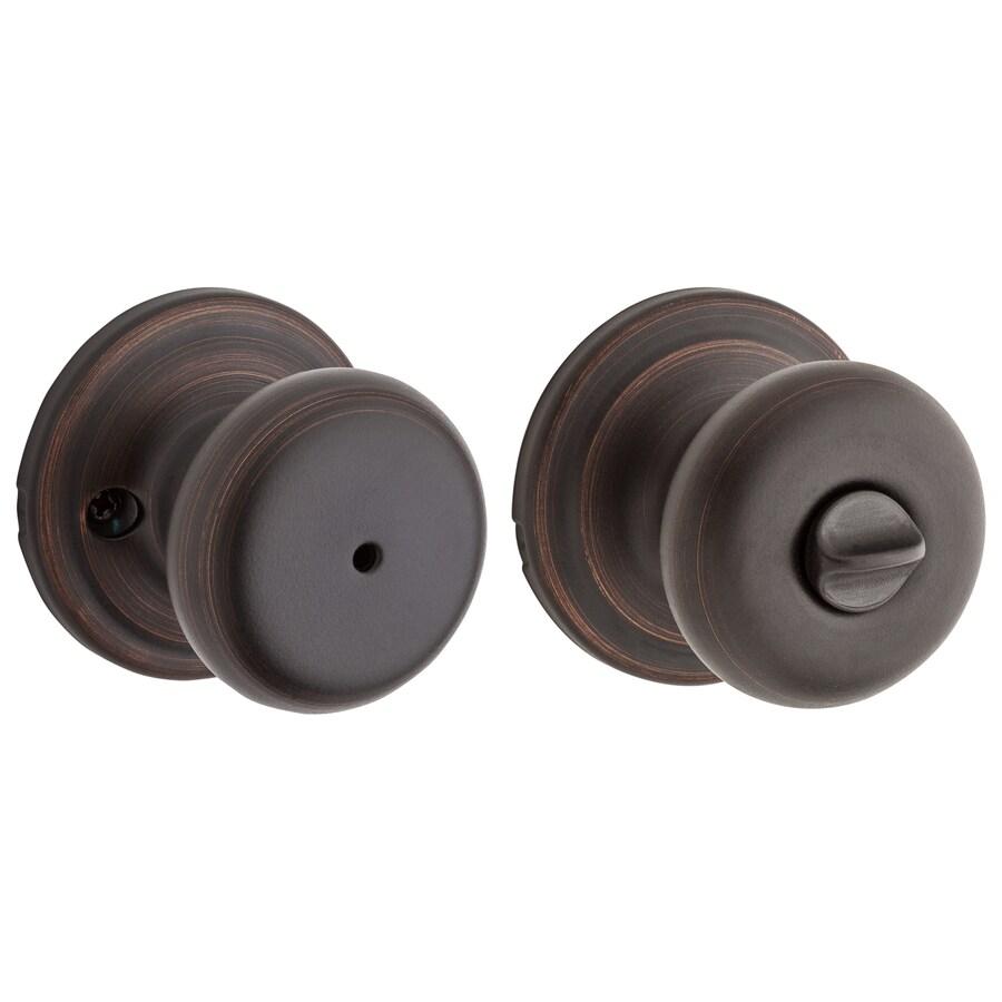 shop kwikset juno venetian bronze round turn lock privacy door knob at