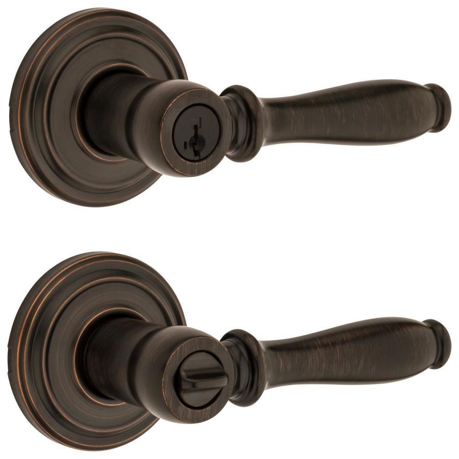 Kwikset Ashfield SmartKey Venetian Bronze Universal Keyed Entry Door Lever