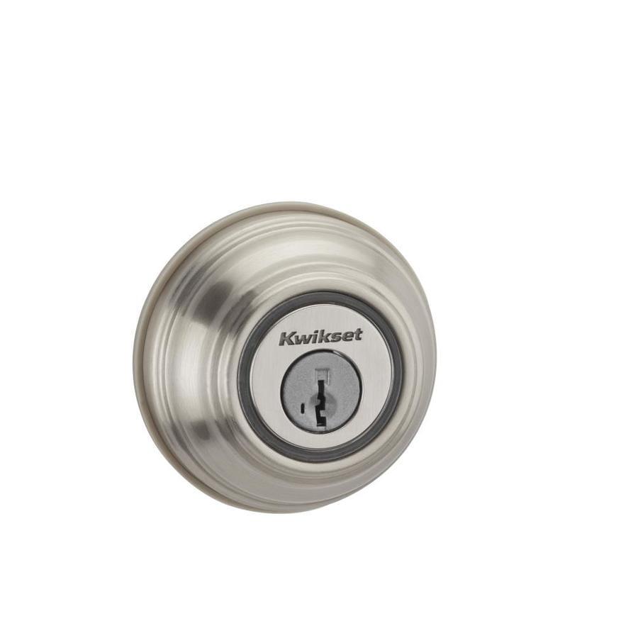 Kwikset Kevo SmartKey Satin Nickel Single-Cylinder Motorized Electronic Entry Door Deadbolt