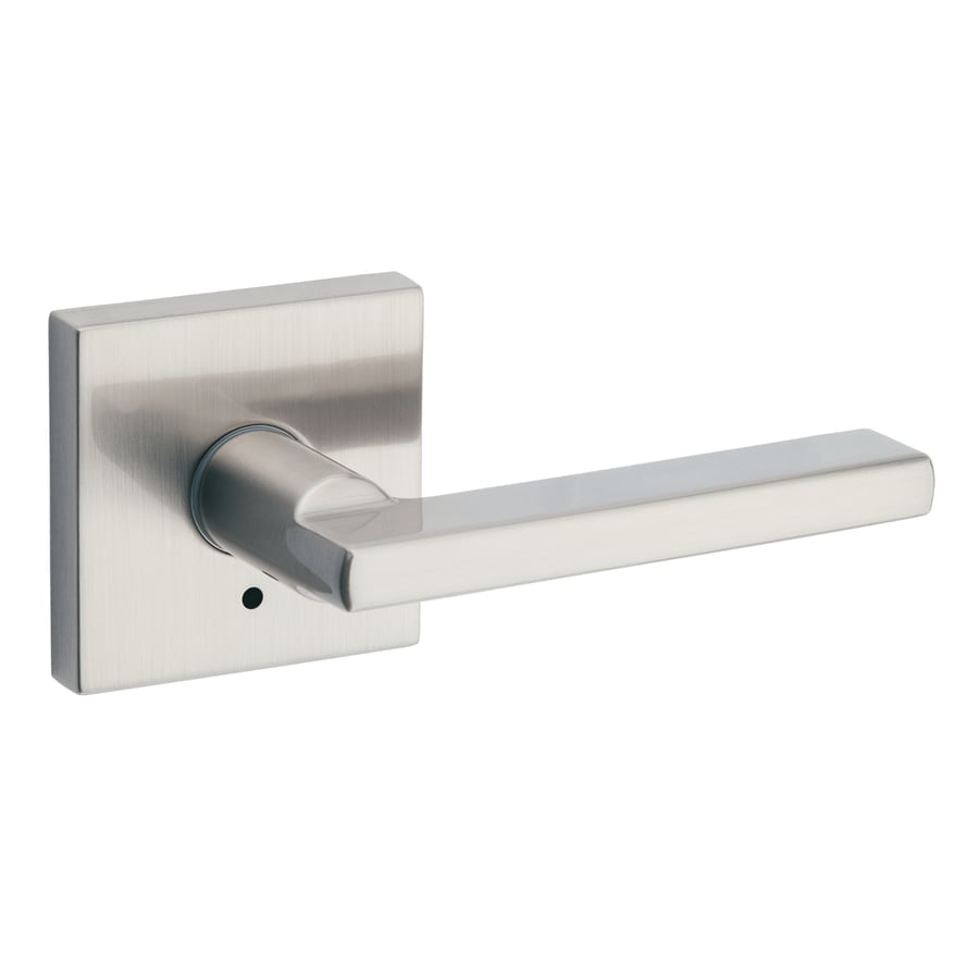 Shop Kwikset Halifax Satin Nickel Privacy Door Handle at Lowes