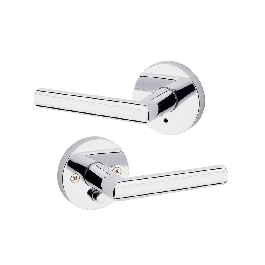 Kwikset Milan Polished Chrome Universal Turn-Lock Privacy Door Lever