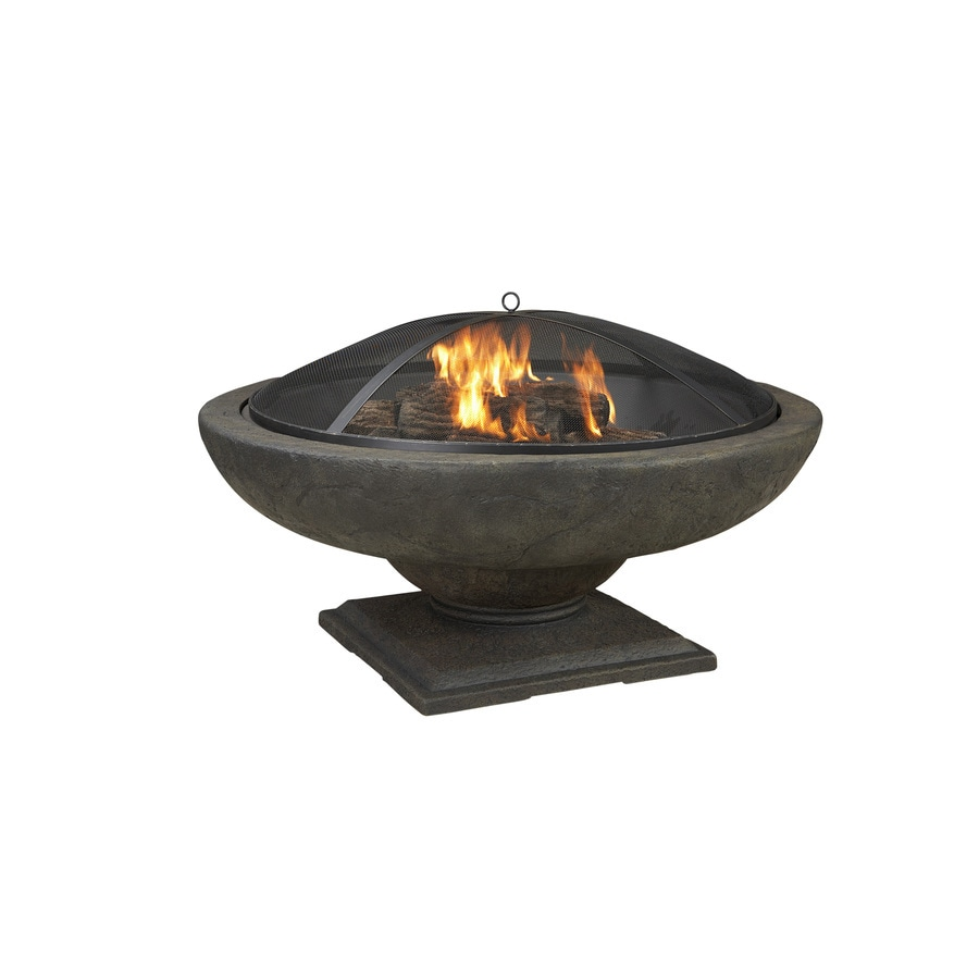 42.83-in W Black/High Temperature Painted Composite Wood-Burning Fire Pit