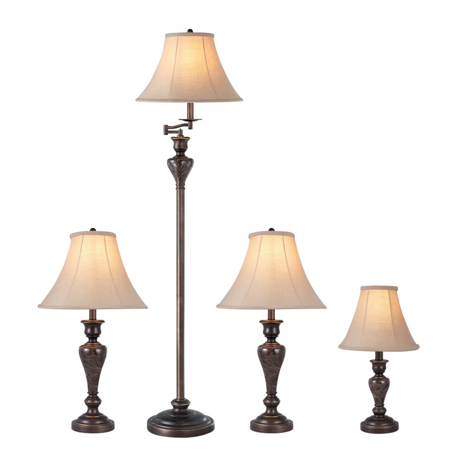 Shop Portfolio Springsley 4 Piece Aged Bronze Lamp Set