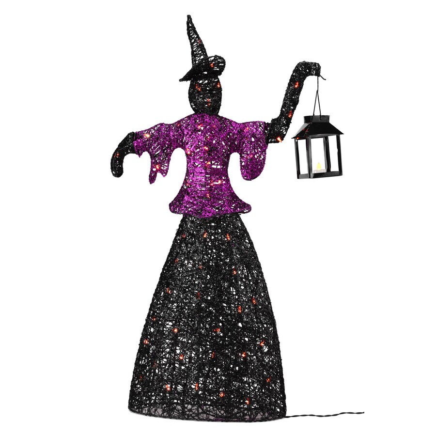 SYLVANIA 42-in Metal Halloween Witch with Lantern