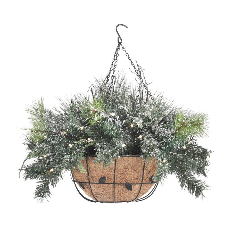 SYLVANIA Battery Operated LED Hanging Basket with 50-Count Clear Lights