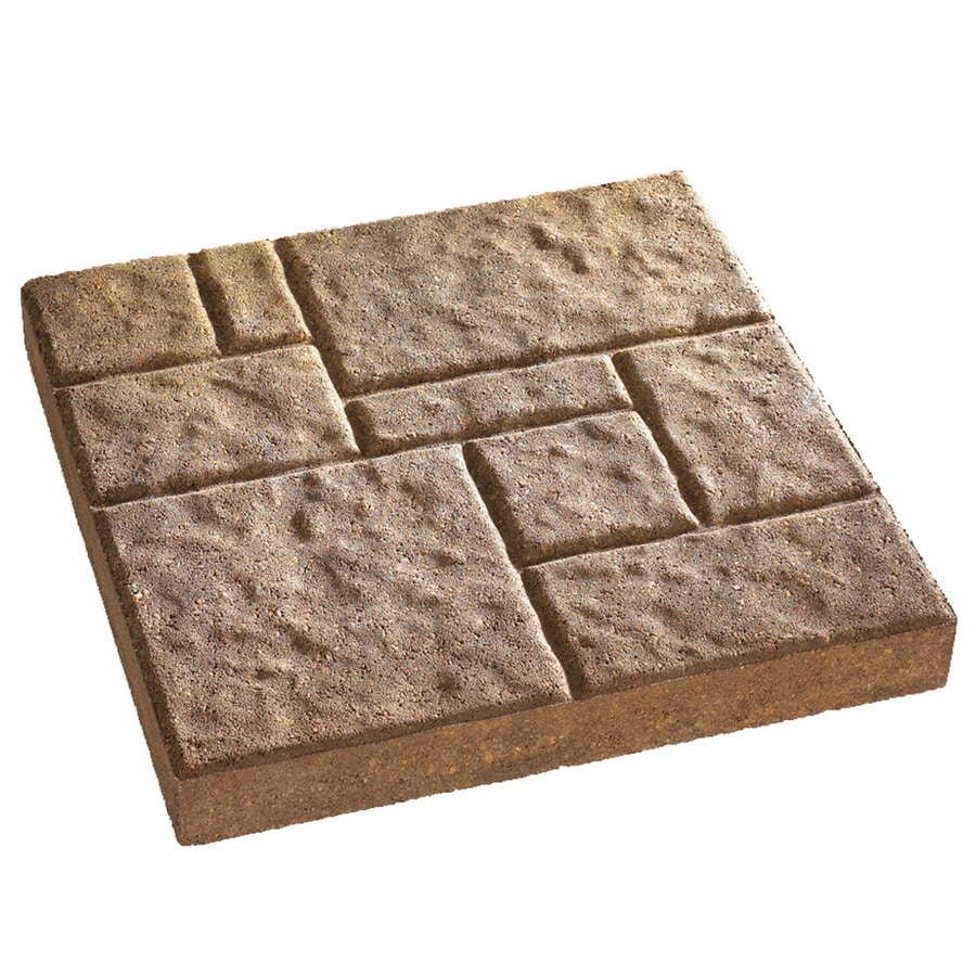 Anchor Block Tan/Brown Four-Cobble Patio Stone (Common: 16-in x 16-in; Actual: 16-in x 16-in)