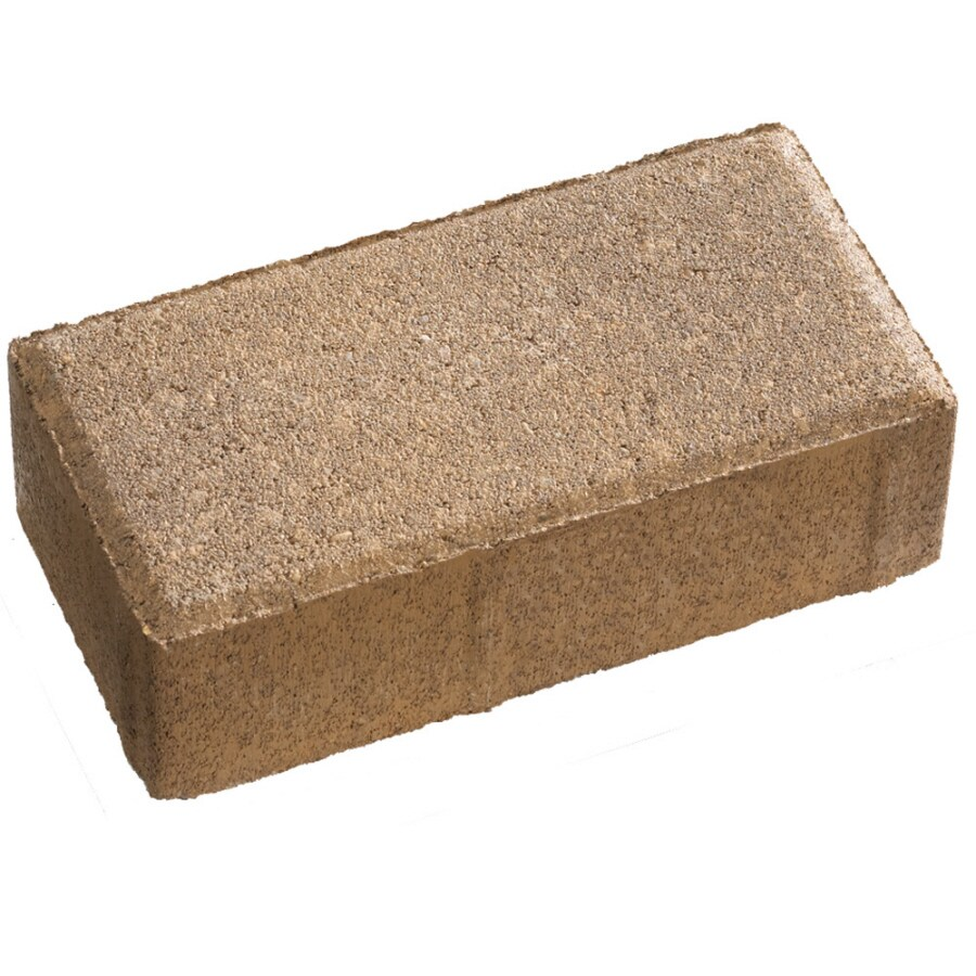Anchor Fulton Tan/Brown Holland Paver (Common: 4-in x 8-in; Actual: 3.8-in H x 7.8-in L)