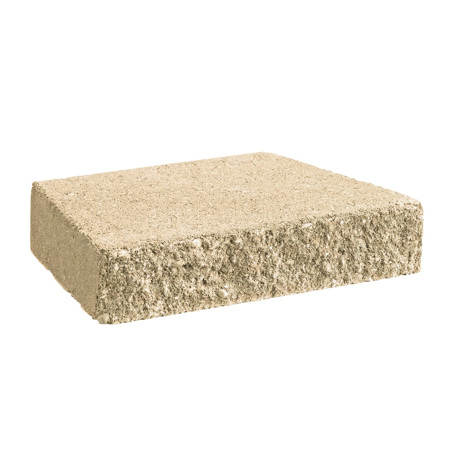 Tan Straight Concrete Retaining Wall Cap (Common: 12-in x 2-in; Actual: 12-in x 2-in)