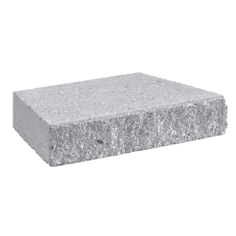 Gray Straight Concrete Retaining Wall Cap (Common: 12-in x 2-in; Actual: 12-in x 2-in)