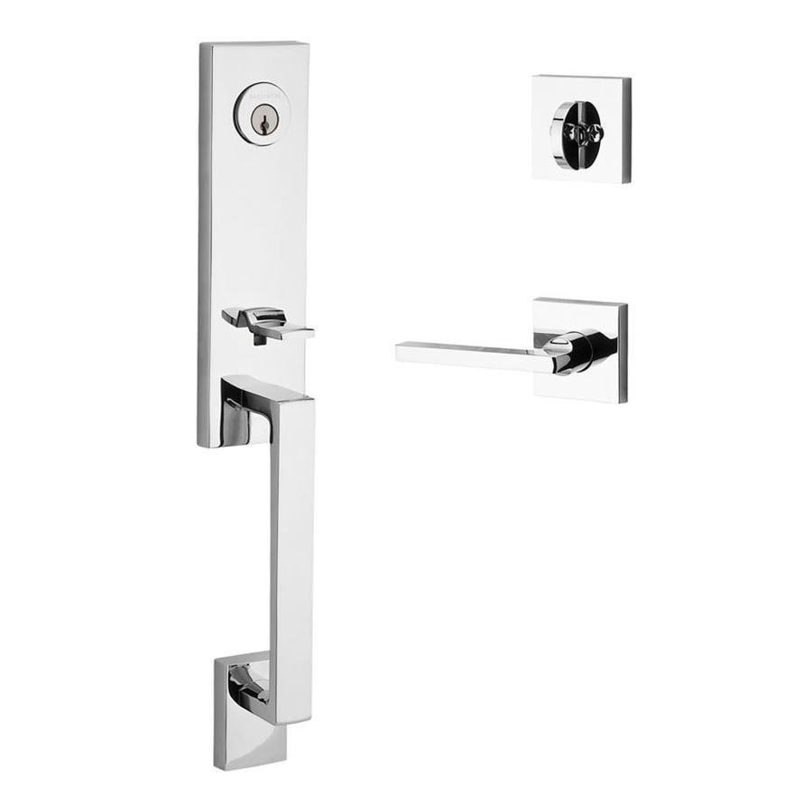 BALDWIN Reserve Seattle x Square Lever Venetian Bronze Single-Lock Keyed Entry Door Handleset