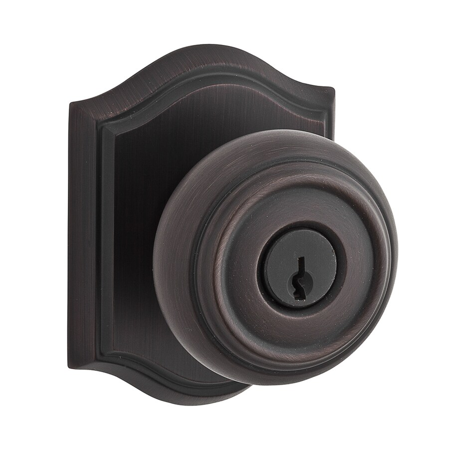 BALDWIN Reserve Traditional Venetian Bronze Round Keyed Entry Door Knob