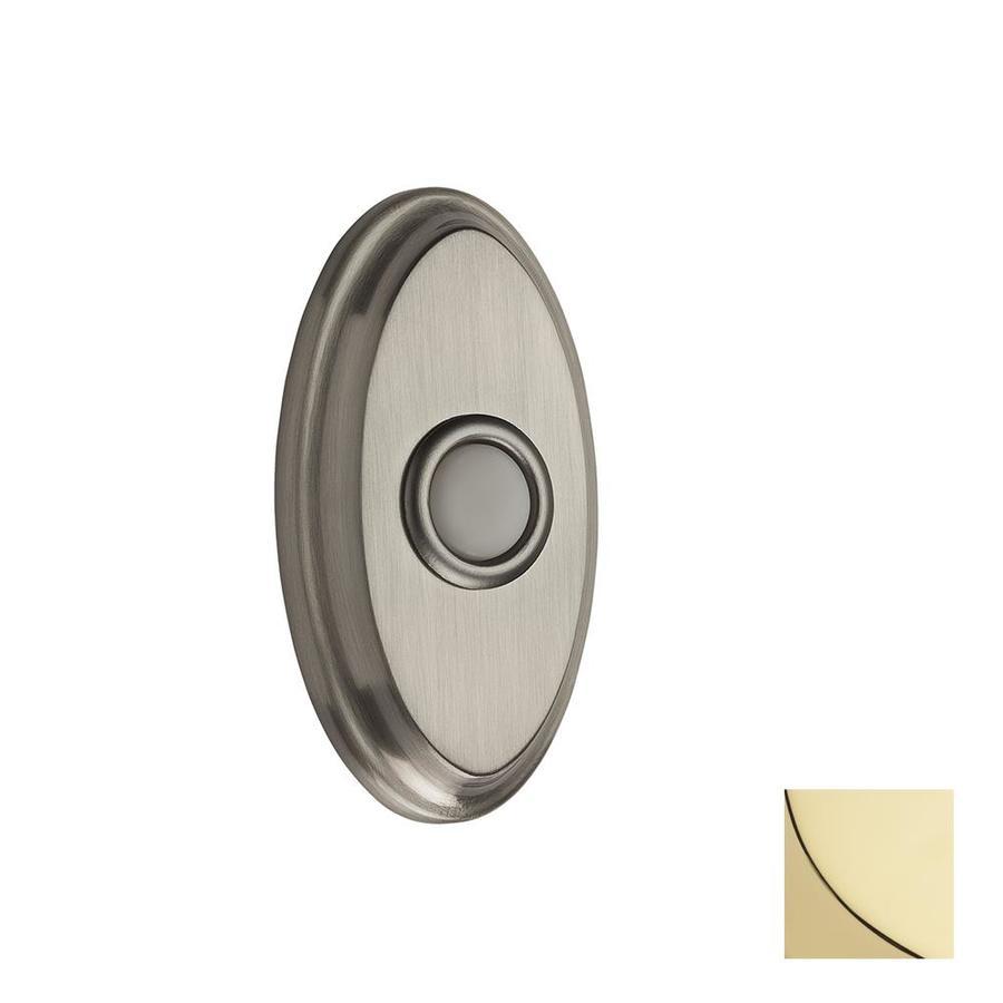 BALDWIN Lifetime Polished Brass Doorbell Button