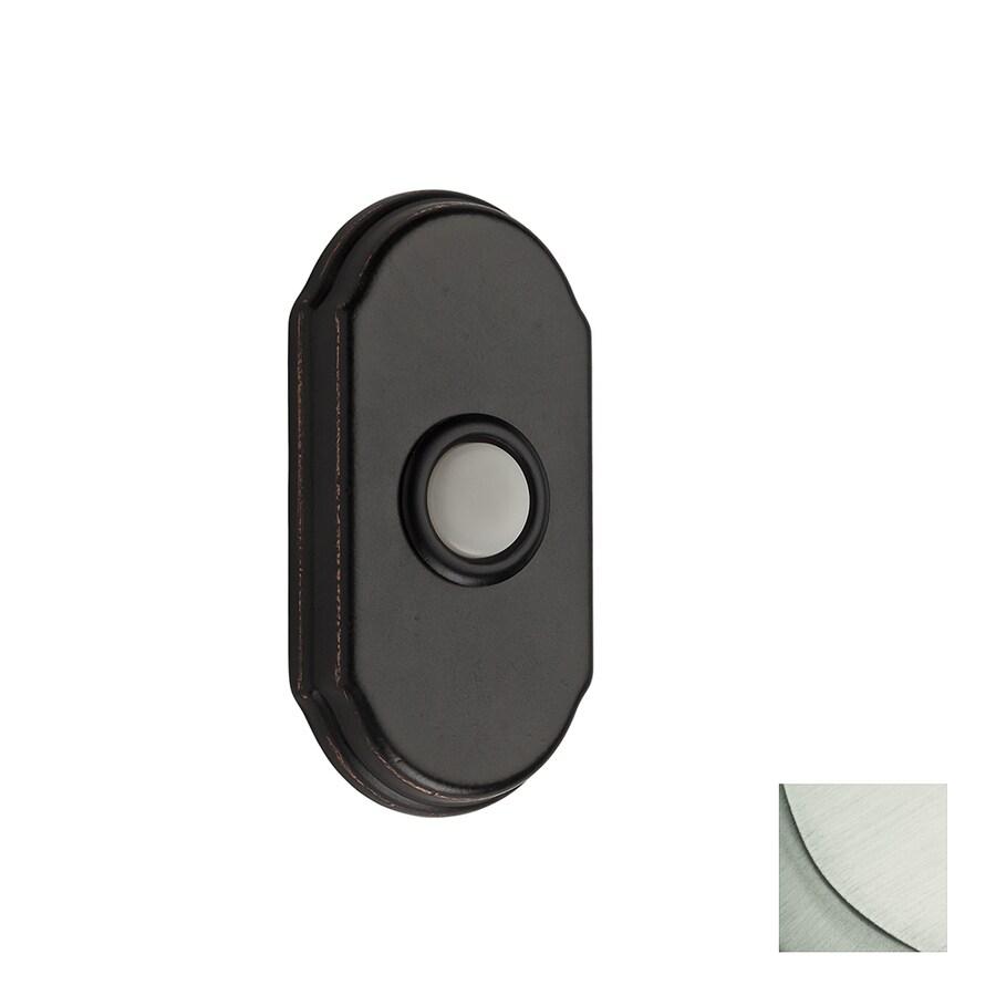 BALDWIN Satin Nickel Doorbell Button