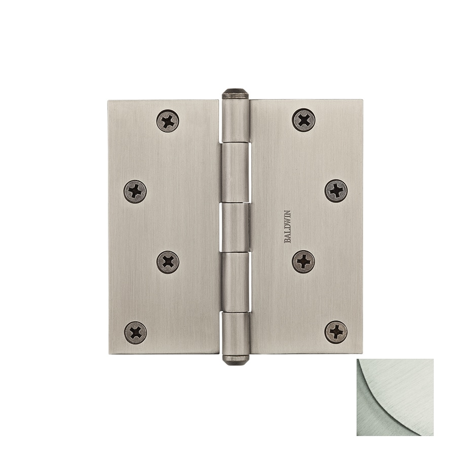 BALDWIN Reserve 4-in H Satin Nickel Radius Interior/Exterior Mortise Door Hinge