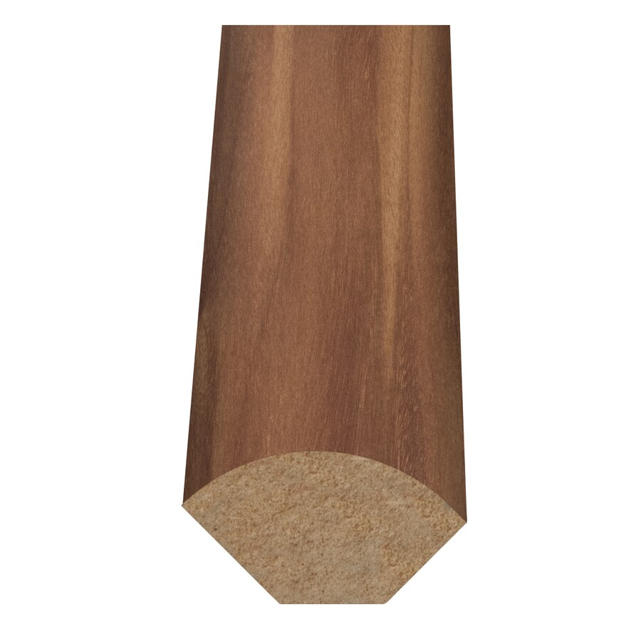 Style Selections 1-in x 94-in Light Brown Woodgrain Quarter Round Floor Moulding