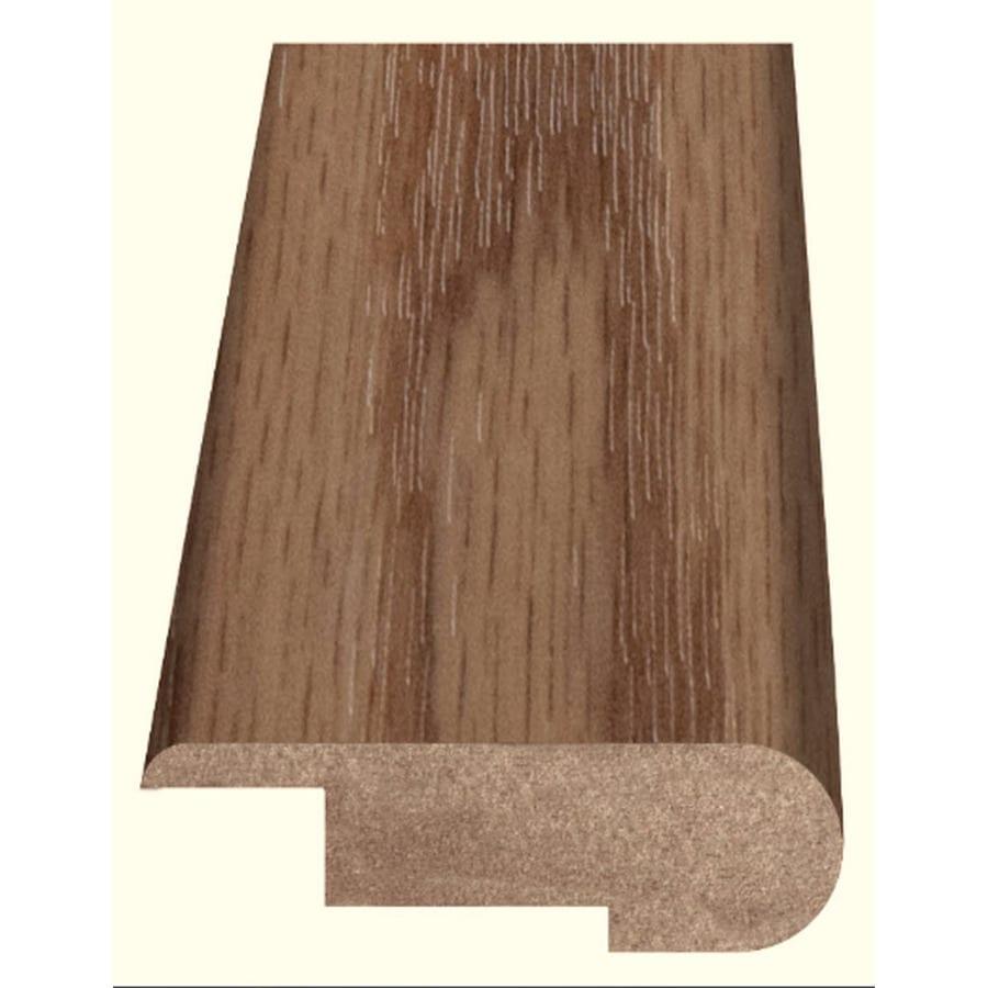 Style Selections 2.37-in x 94-in Light Brown Oak Woodgrain Stair Nose Floor Moulding