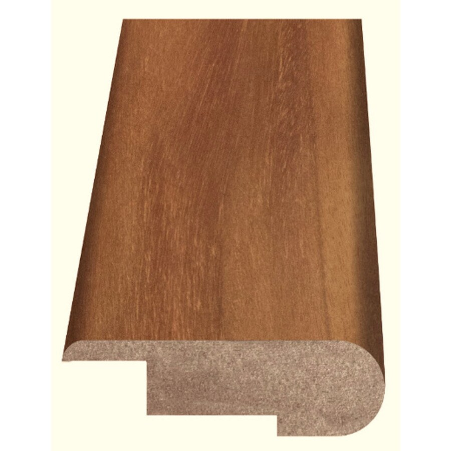 Style Selections 2.37-in x 94-in Light Brown Woodgrain Stair Nose Floor Moulding