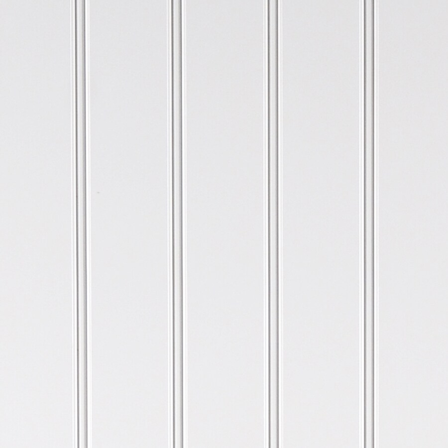 WallDesign Walldesign 48-in x 8-ft Double Bead White Birch HDF Wainscoting Wall Panel