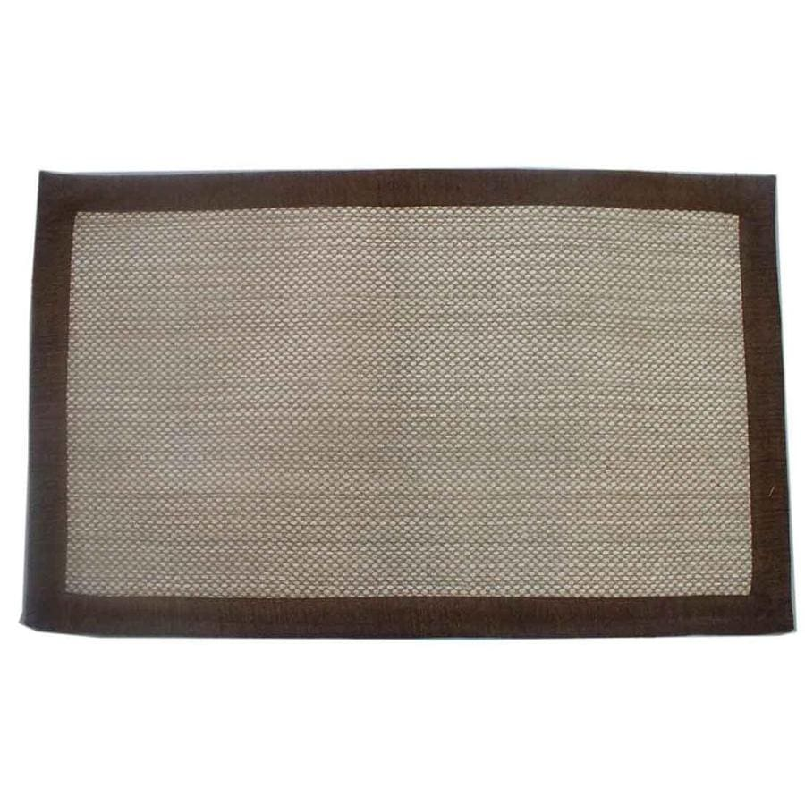 allen + roth Brown Rectangular Indoor Woven Throw Rug (Common: 2 x 4; Actual: 27-in W x 45-in L)