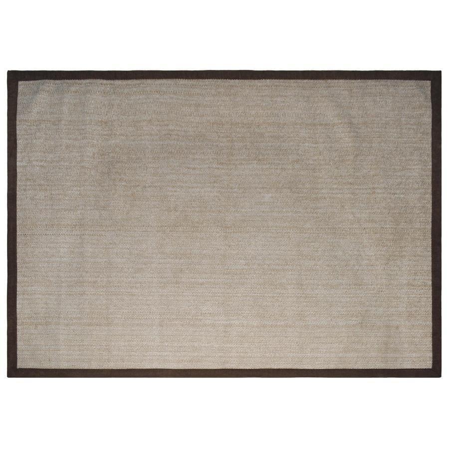 allen + roth Brown Rectangular Indoor Woven Area Rug (Common: 8 x 11; Actual: 96-in W x 126-in L)