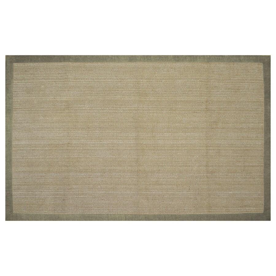 allen + roth Northbridge Maple and Aqua Rectangular Indoor Woven Area Rug (Common: 5 x 8; Actual: 60-in W x 93-in L)