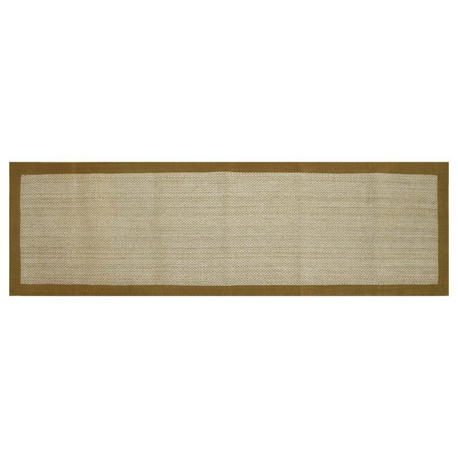 allen + roth Northbridge New Gold Rectangular Indoor Woven Runner (Common: 2 x 8; Actual: 27-in W x 90-in L)