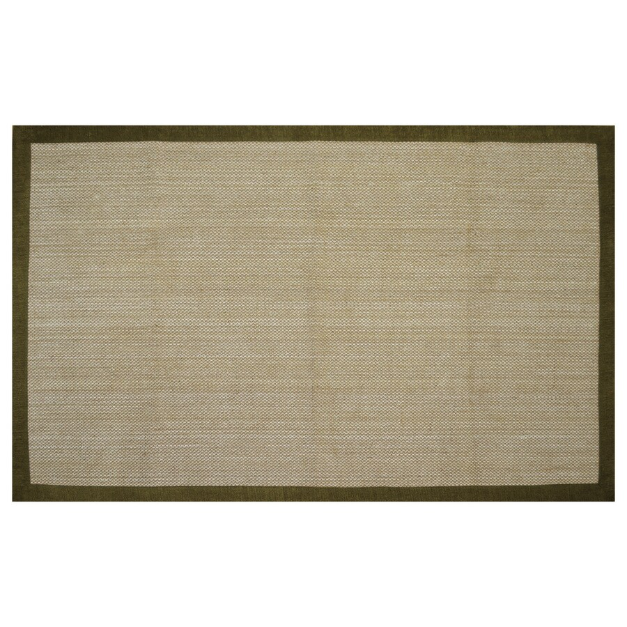 allen + roth Northbridge New Gold Rectangular Indoor Woven Area Rug (Common: 5 x 8; Actual: 60-in W x 93-in L)