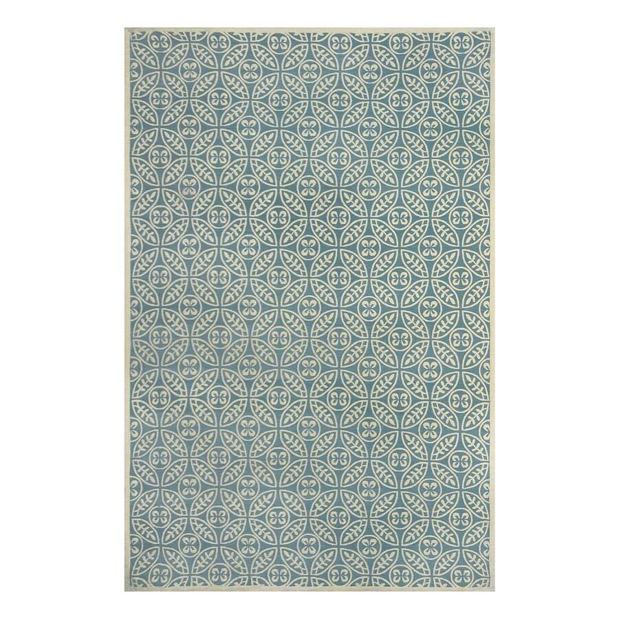 allen + roth Blue Rectangular Indoor Woven Area Rug (Common: 5 x 8; Actual: 60-in W x 90-in L)