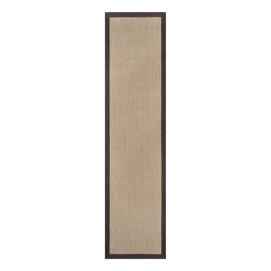 allen + roth Walnut Rectangular Indoor Woven Runner (Common: 2 x 8; Actual: 24-in W x 96-in L)