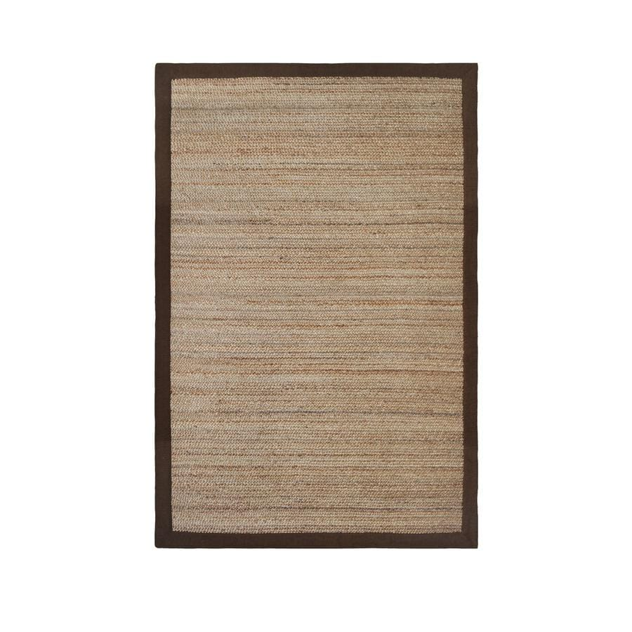 allen + roth Witham Espresso Rectangular Indoor Braided Area Rug (Common: 8 x 10; Actual: 96-in W x 120-in L)