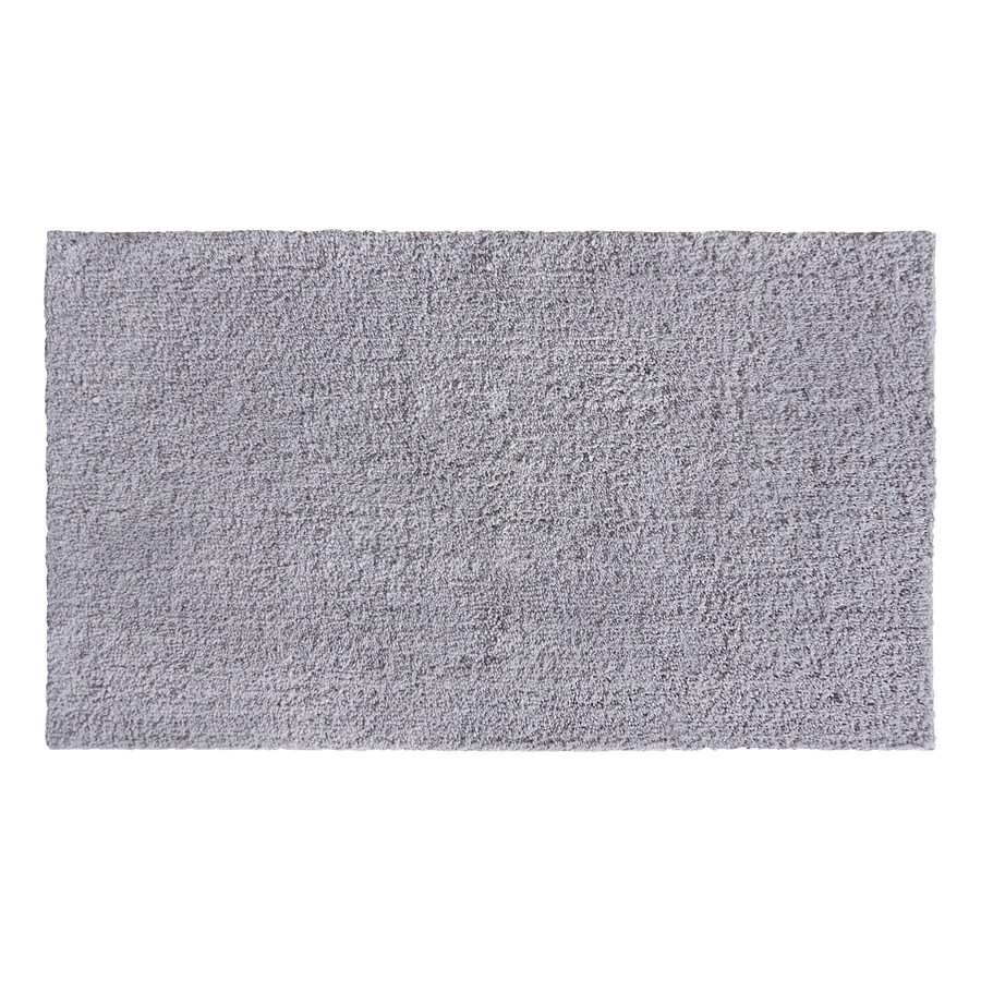 allen + roth 20-in x 34-in Gray Polyester Bath Rug