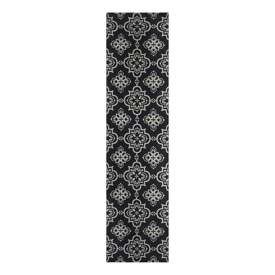 Style Selections Blue Rectangular Indoor Woven Runner (Common: 2 x 8; Actual: 24-in W x 96-in L)