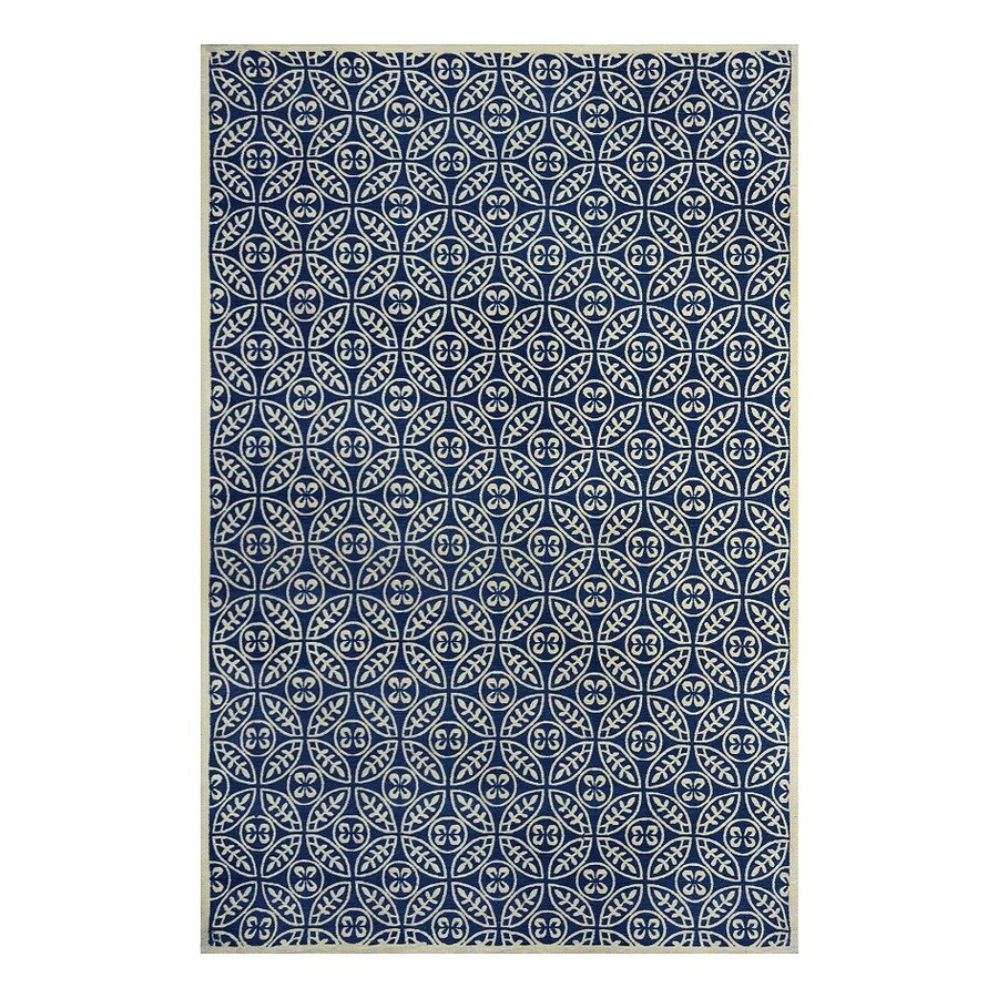 allen + roth Maysburg Navy Rectangular Indoor Woven Area Rug (Common: 5 x 8; Actual: 60-in W x 90-in L)