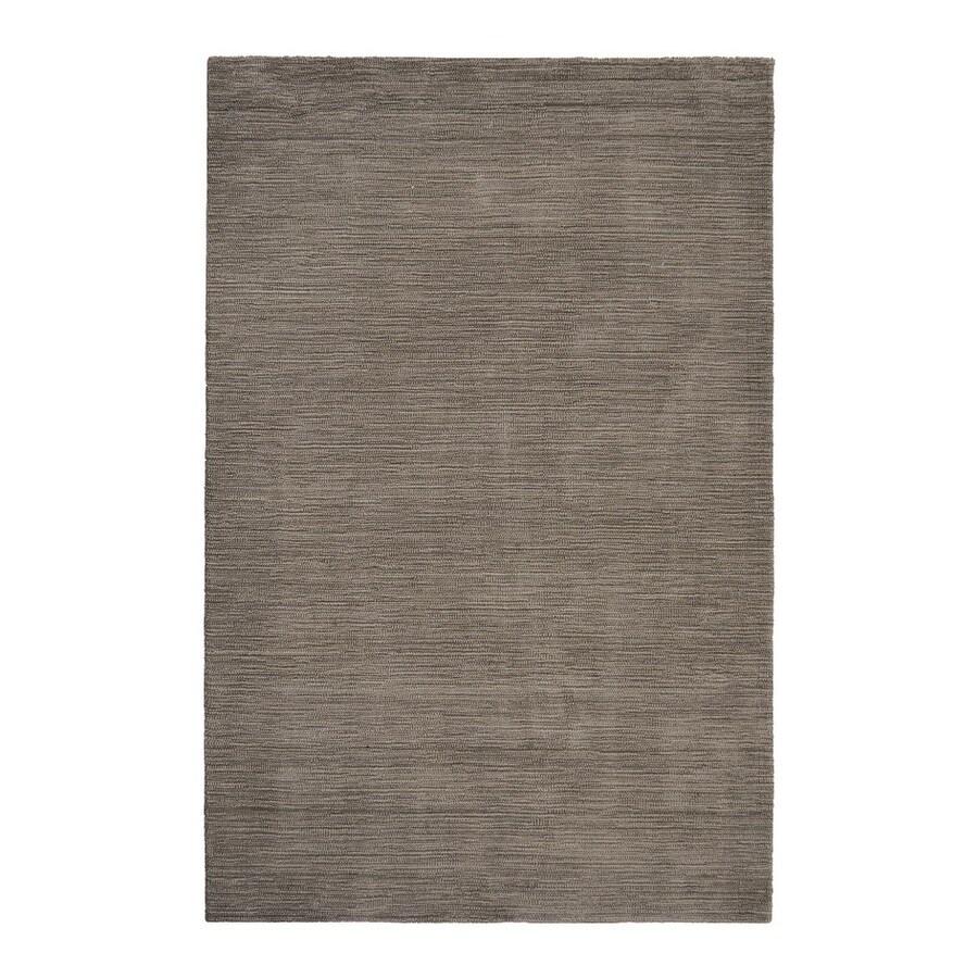 allen + roth Monteith Brown Rectangular Indoor Woven Area Rug (Common: 8 x 10; Actual: 96-in W x 120-in L)