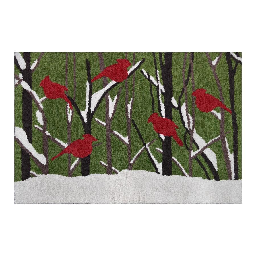 Holiday Living Multicolor Rectangular Indoor Hand-Hooked Holiday Throw Rug (Common: 2 x 3; Actual: 24-in W x 36-in L)