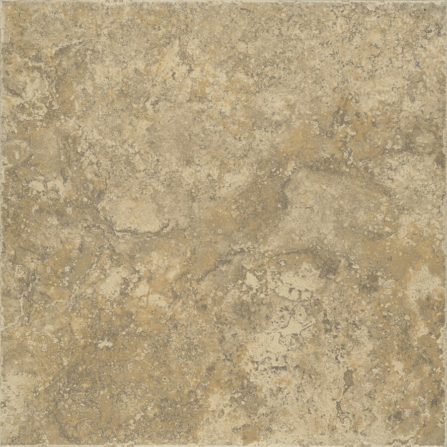 FLOORS 2000 Terrace 15-Pack Noce Porcelain Floor and Wall Tile (Common: 13-in x 13-in; Actual: 13.1-in x 13.1-in)