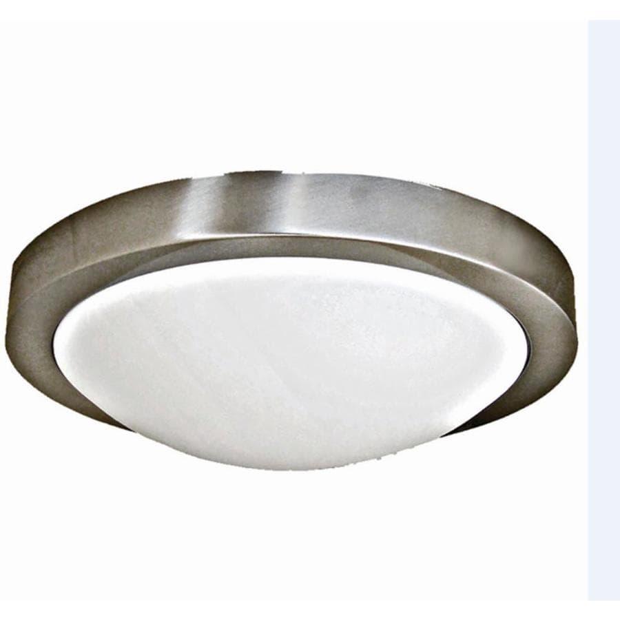 Khaleesi 11-in W Satin Chrome Ceiling Flush Mount Light