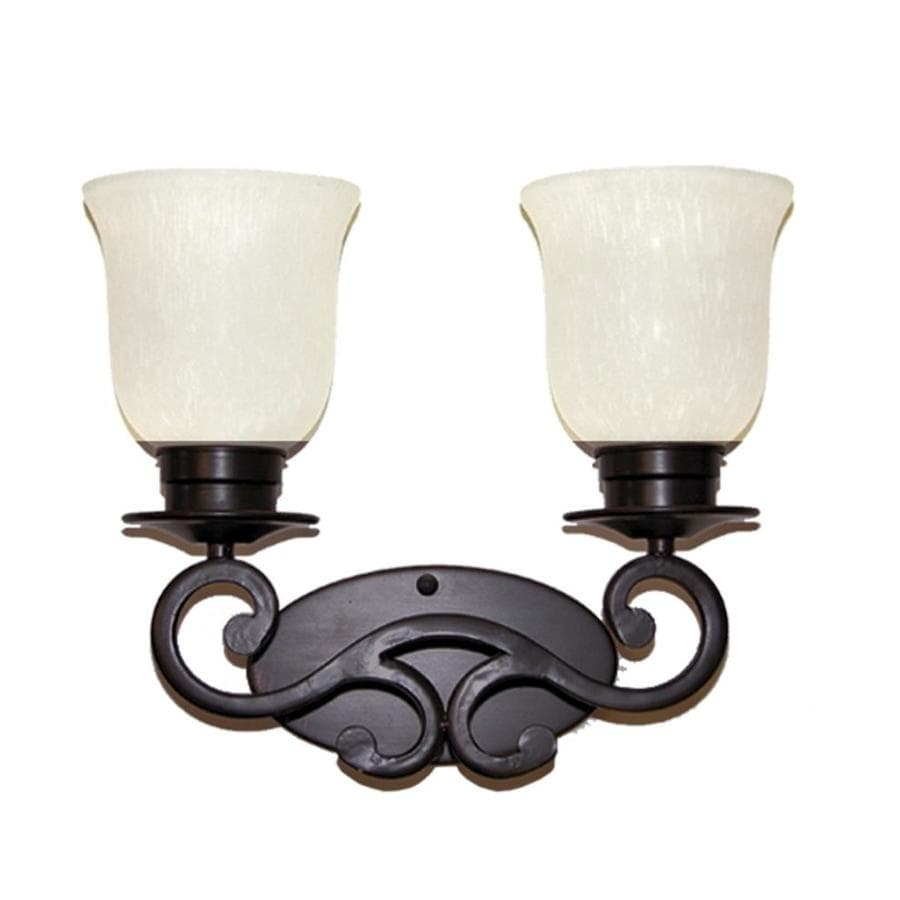 Khaleesi 2-Light English Bronze Vanity Light