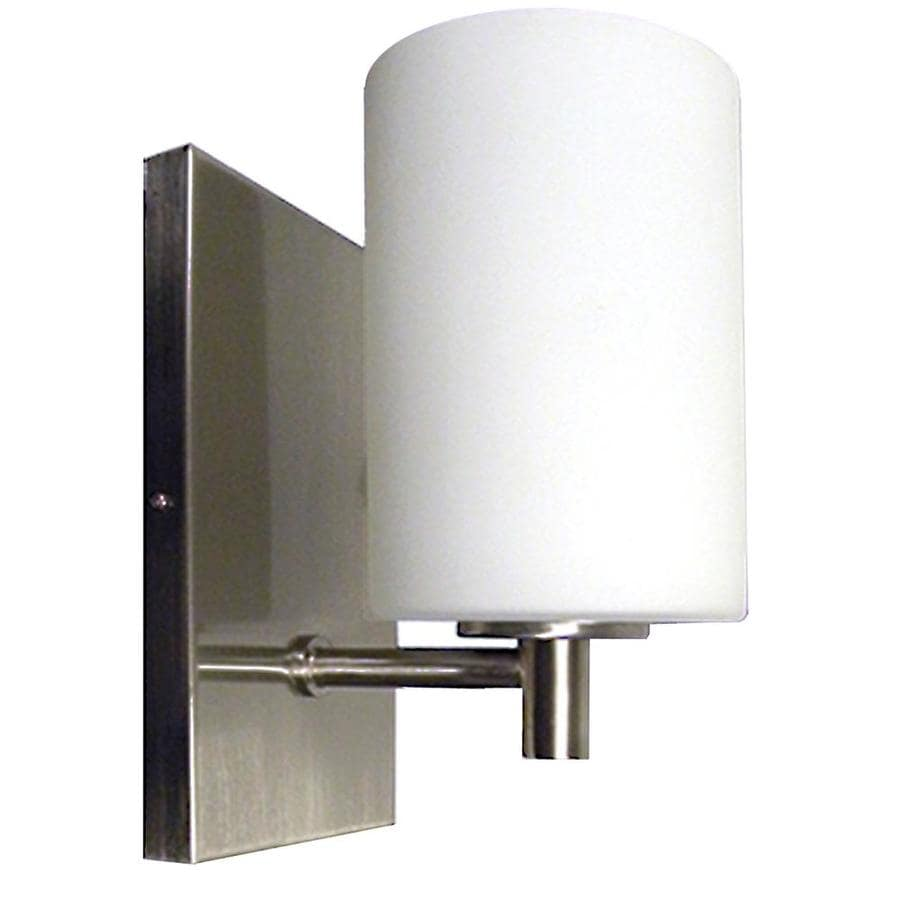 Shop Khaleesi 4.25-in W 1-Light Satin Chrome Arm Hardwired Wall Sconce at Lowes.com