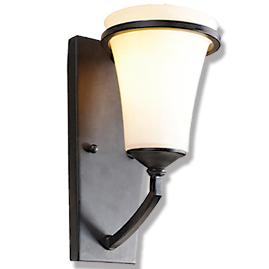 Wall Sconces Hardwired : Shop Khaleesi 6-in W 1-Light Antique Bronze Arm Hardwired Wall Sconce at Lowes.com