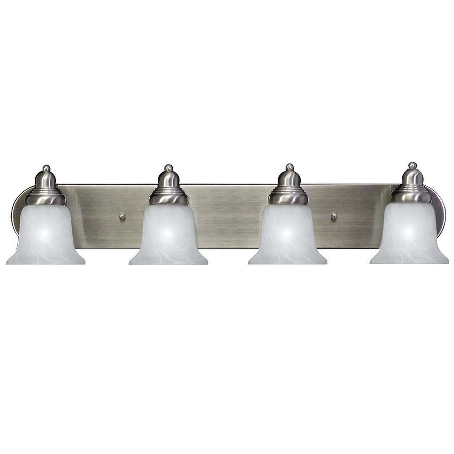 Vanity Light With Plug Lowes : Shop Khaleesi 4-Light Satin Chrome Vanity Light at Lowes.com