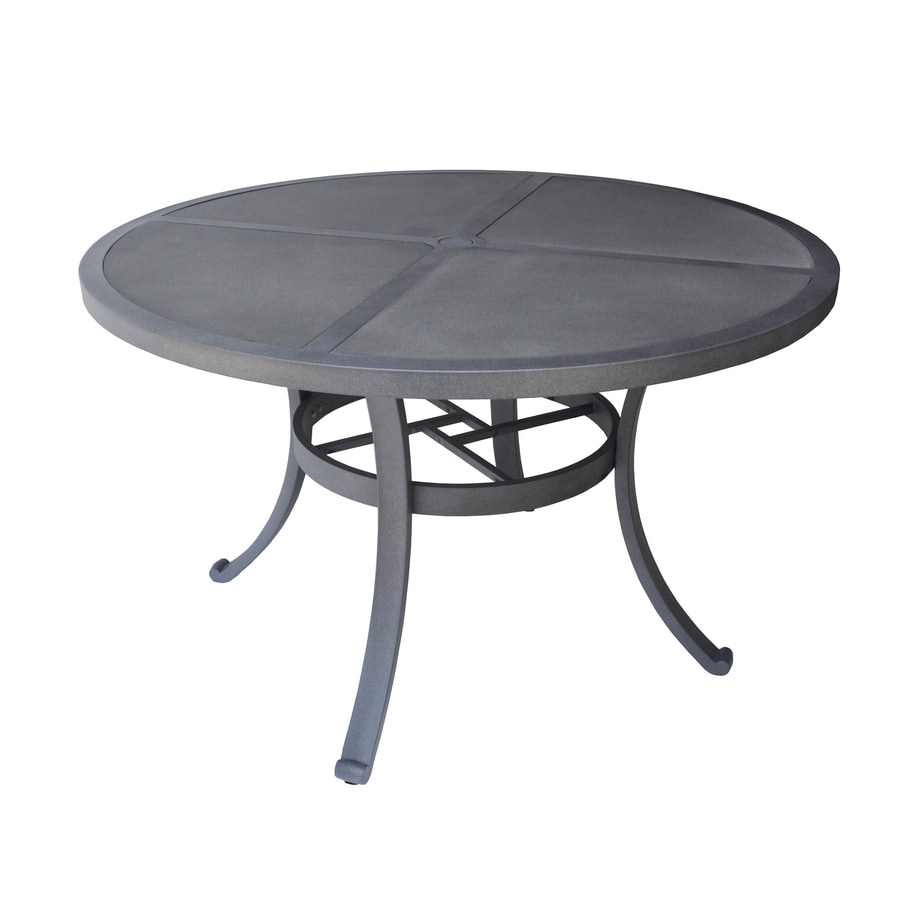 Shop allen roth Newstead Round Dining Table at Lowescom : 884903500115 from www.lowes.com size 900 x 900 jpeg 171kB