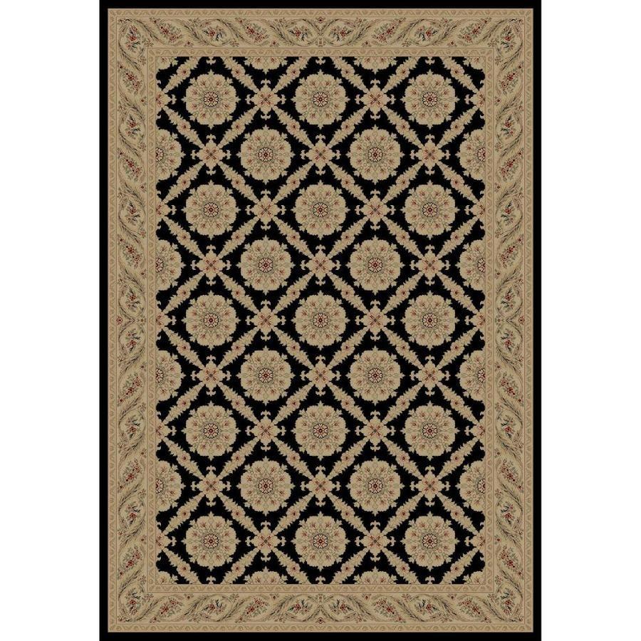 Concord Global Legend Black Rectangular Indoor Woven Oriental Area Rug (Common: 9 x 12; Actual: 105-in W x 147-in L x 8.75-ft Dia)