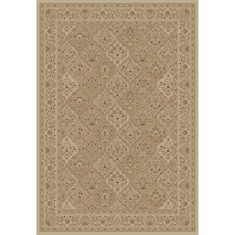 Concord Global Legend Ivory Rectangular Indoor Woven Oriental Area Rug (Common: 5 x 8; Actual: 63-in W x 91-in L x 5.25-ft Dia)