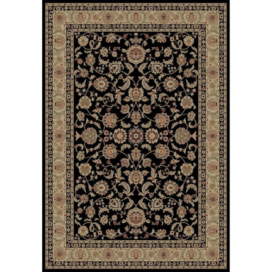 Concord Global Legend Black Rectangular Indoor Woven Oriental Area Rug (Common: 9 x 12; Actual: 105-in W x 147-in L x 8.75-ft Dia)