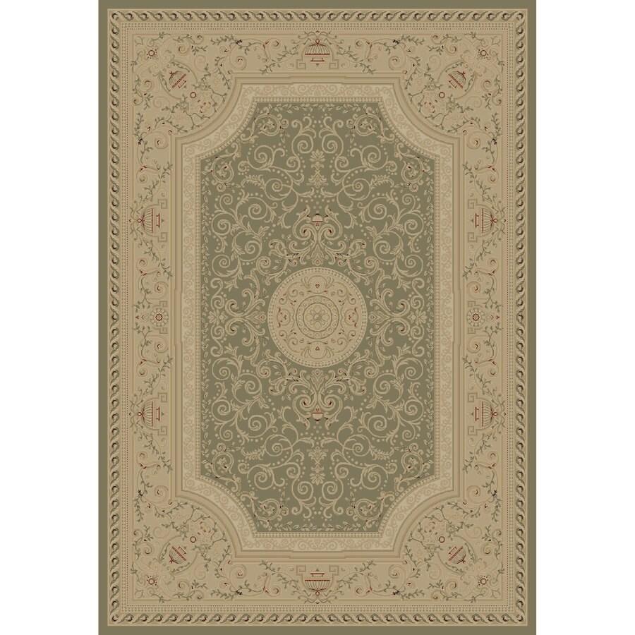 Concord Global Legend Gray Rectangular Indoor Woven Oriental Area Rug (Common: 8 x 11; Actual: 94-in W x 130-in L x 7.83-ft Dia)