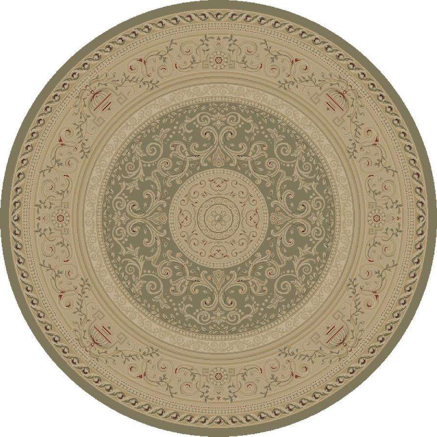 Concord Global Legend Gray Round Indoor Woven Oriental Area Rug (Common: 8 x 8; Actual: 94-in W x 94-in L x 7.83-ft Dia)