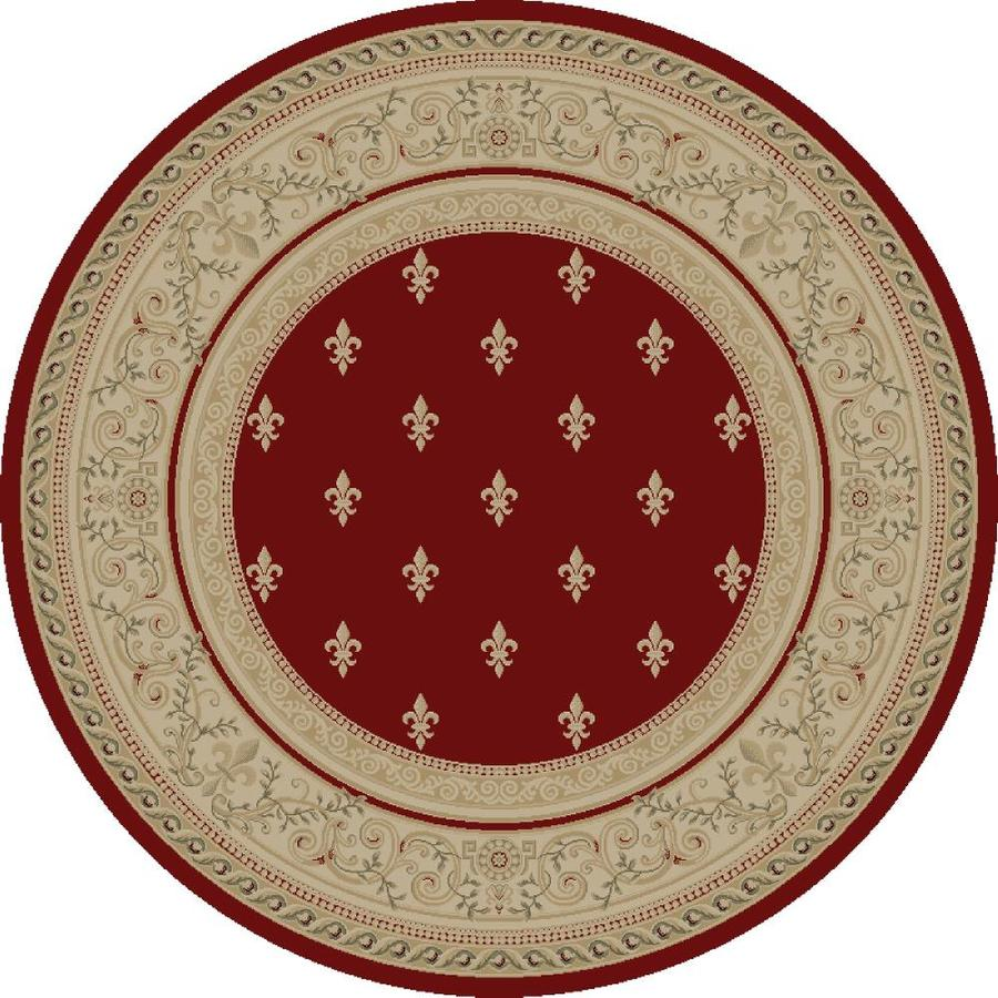 Concord Global Legend Red Round Indoor Woven Oriental Area Rug (Common: 5 x 5; Actual: 63-in W x 63-in L x 5.25-ft Dia)