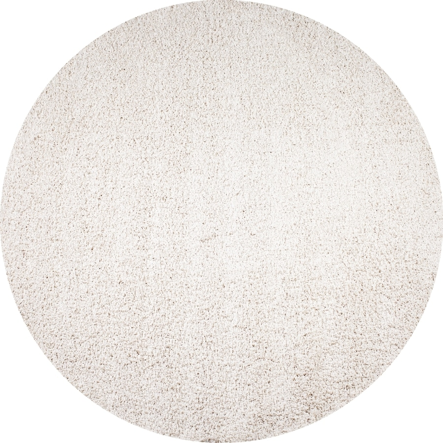 Concord Global Moderno Ivory Round Indoor Woven Area Rug (Common: 7 x 7; Actual: 79-in W x 79-in L x 6.58-ft Dia)